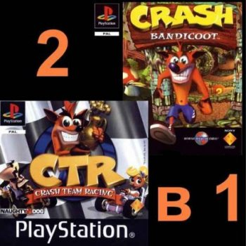2 in 1 CTR - Crash Team Racing & Crash Bandicoot PS1