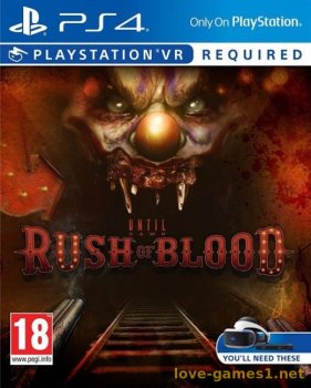 Until Dawn Rush of Blood PS4 VR Русский